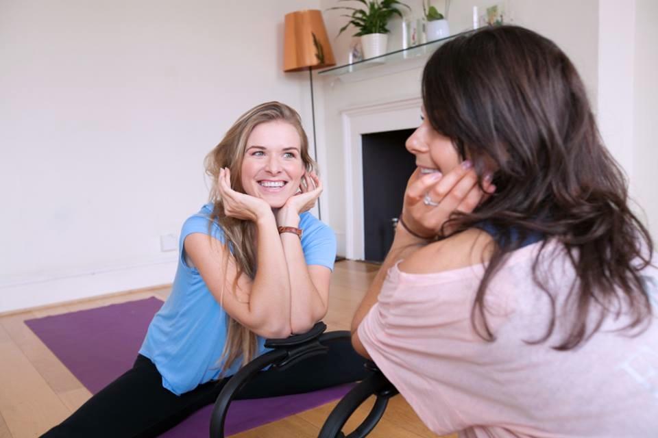 Lina & Becky pilates workshop at studio